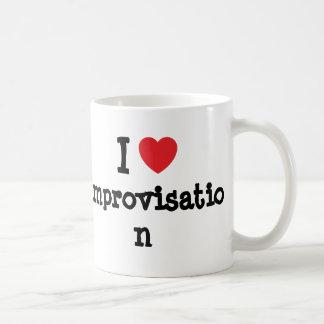 I love Improvisation heart custom personalized Classic White Coffee Mug
