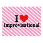 I Love Improvisational Postcard