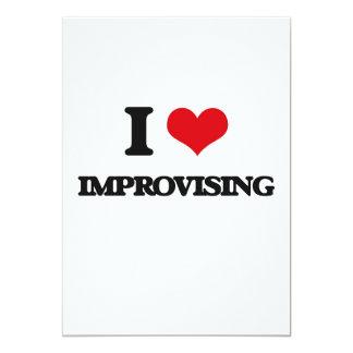 I Love Improvising 5x7 Paper Invitation Card