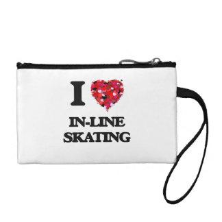 I Love In-Line Skating Change Purses