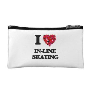 I Love In-Line Skating Makeup Bags