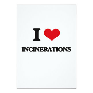 I Love Incinerations 3.5x5 Paper Invitation Card