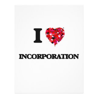 "I Love Incorporation 8.5"" X 11"" Flyer"