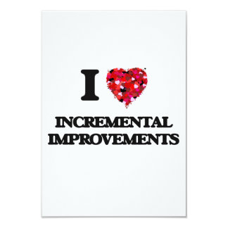I Love Incremental Improvements 3.5x5 Paper Invitation Card