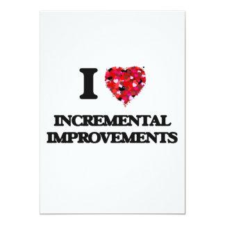 I Love Incremental Improvements 5x7 Paper Invitation Card