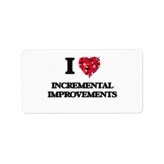 I Love Incremental Improvements Address Label