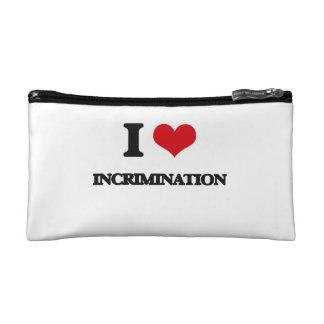 I Love Incrimination Cosmetics Bags