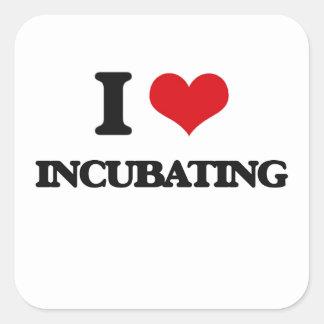 I Love Incubating Square Sticker