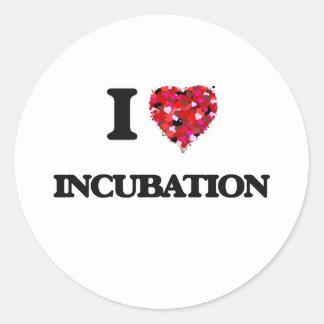 I Love Incubation Classic Round Sticker