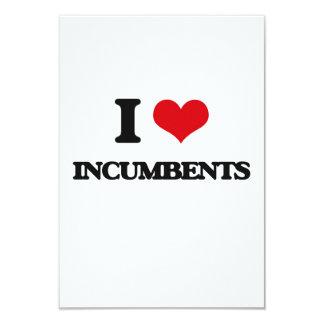 I Love Incumbents 3.5x5 Paper Invitation Card