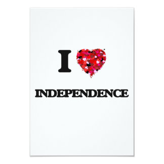 I Love Independence 3.5x5 Paper Invitation Card