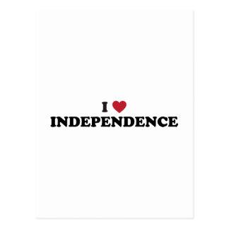 I Love Independence Missouri Postcard