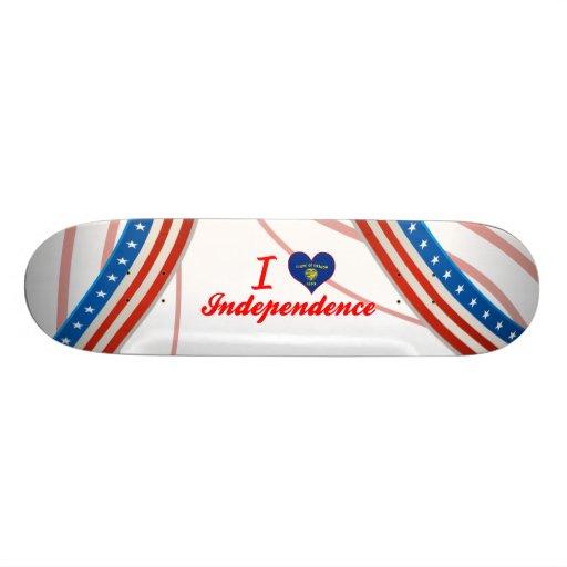 I Love Independence, Oregon Custom Skateboard