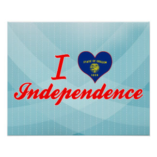 I Love Independence, Oregon Posters