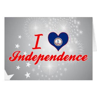 I Love Independence, Virginia Greeting Card
