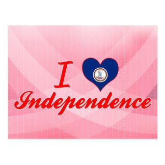 I Love Independence, Virginia Postcard