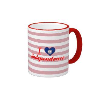 I Love Independence, Virginia Ringer Coffee Mug