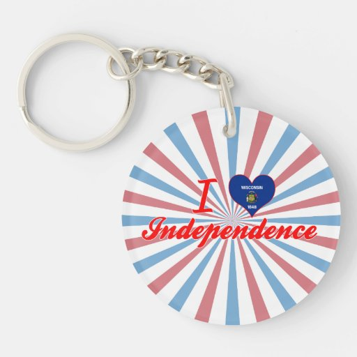 I Love Independence, Wisconsin Keychains