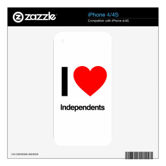 i love independents decals for the iPhone 4
