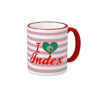 I Love Index, Washington Coffee Mug