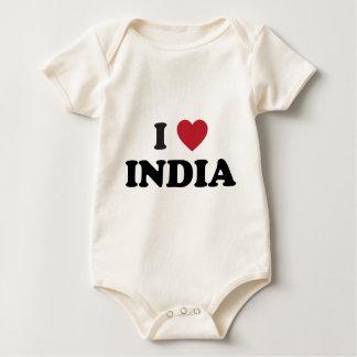 I Love India Baby Bodysuit