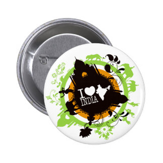 i love india badges 2 inch round button