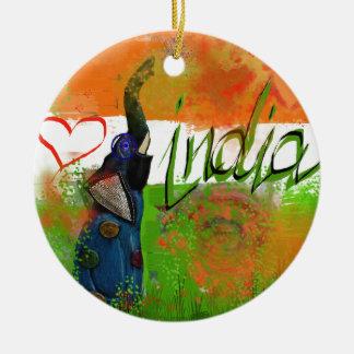 I love India Ceramic Ornament