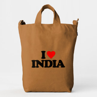 I LOVE INDIA DUCK BAG