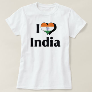 I Love India Flag T-Shirt