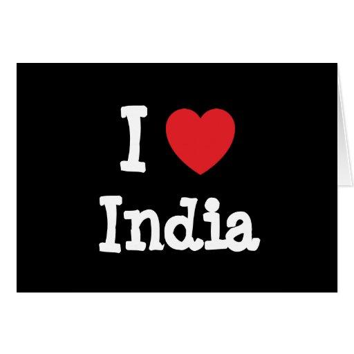 I love India heart T-Shirt Card