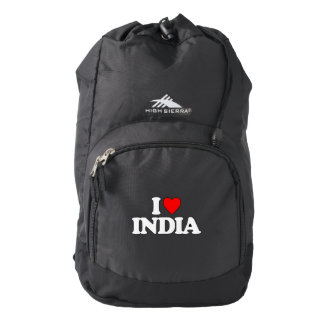 I LOVE INDIA HIGH SIERRA BACKPACK