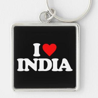 I LOVE INDIA KEYCHAINS