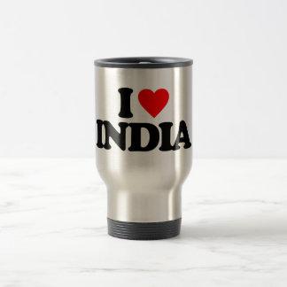 I LOVE INDIA COFFEE MUGS