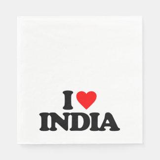 I LOVE INDIA NAPKIN