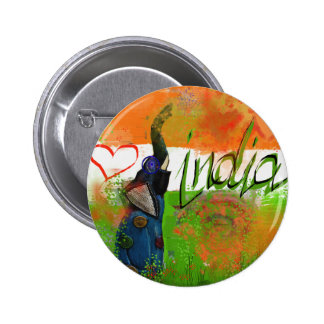 I love India Pinback Button