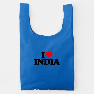 I LOVE INDIA REUSABLE BAG