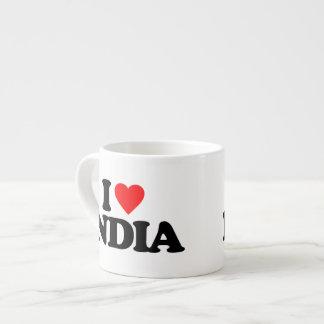 I LOVE INDIA 6 OZ CERAMIC ESPRESSO CUP