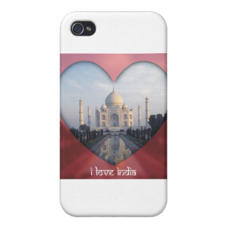 """I Love India"" Taj Mahal Heart Cases For iPhone 4"