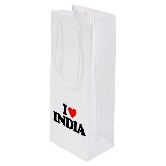 I LOVE INDIA WINE GIFT BAG