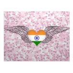 I Love India -wings Postcard