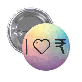 I Love Indian Currencys Pinback Button