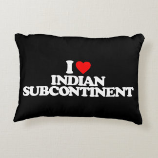 I LOVE INDIAN SUBCONTINENT ACCENT PILLOW
