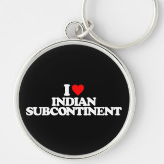 I LOVE INDIAN SUBCONTINENT KEYCHAIN