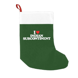 I LOVE INDIAN SUBCONTINENT SMALL CHRISTMAS STOCKING