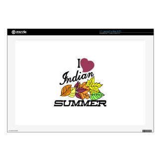 I Love Indian Summer Decal For Laptop