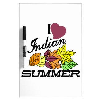 I Love Indian Summer Dry-Erase Board