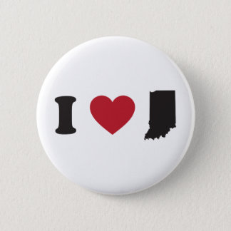 I Love Indiana Button