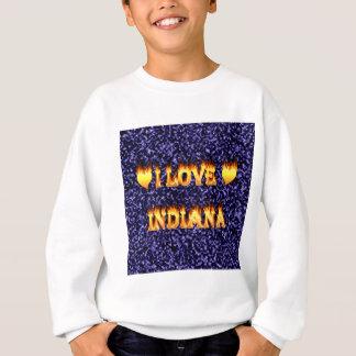 i love indiana fire and flames blue sweatshirt