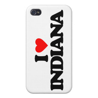 I LOVE INDIANA COVERS FOR iPhone 4