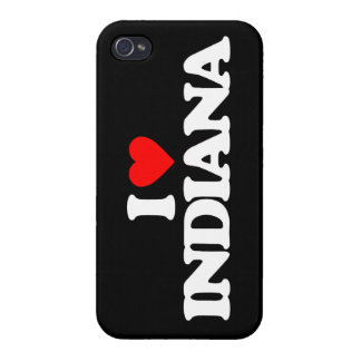 I LOVE INDIANA CASES FOR iPhone 4